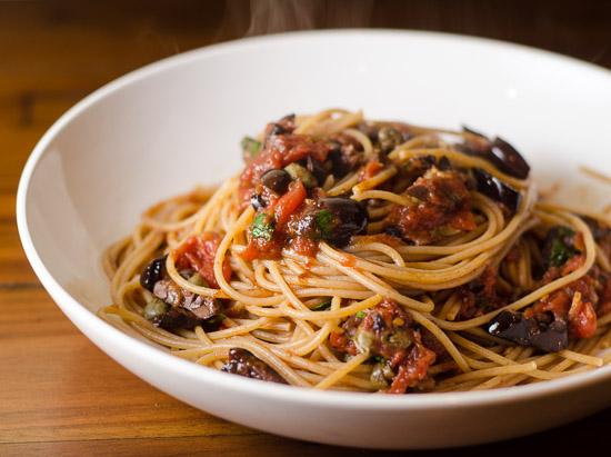 Spaghetti-alla-Puttanesca-Crazy-Italians-signature-dish
